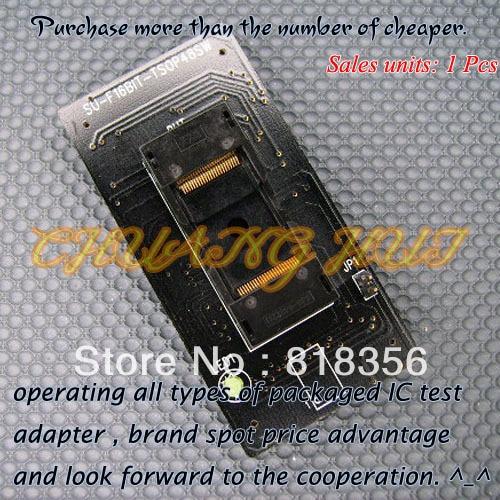 SU-F16BIT-TSOP48SW Programmer Adapter TSOP48 IC Test Socket clamshell qfp144 lqfp144 tqfp144 su h8s2505 tq144 programmer adapter for lp programmer