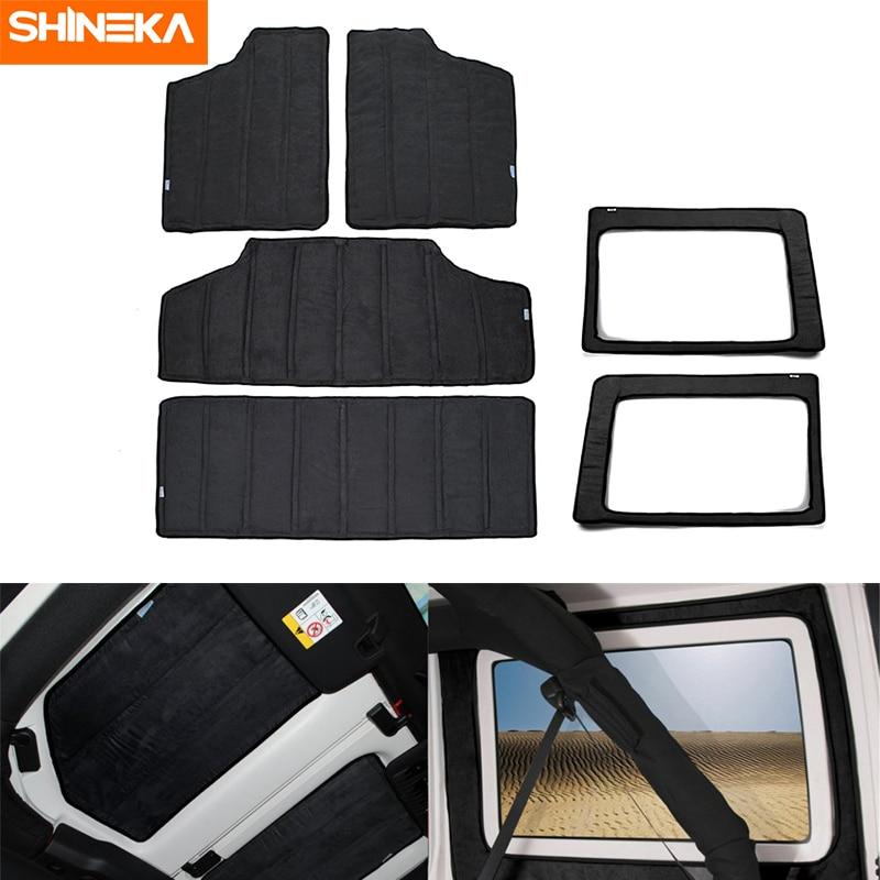 SHINEKA Heat Insulation Cotton Pad Hardtop Headliner Roof and Rear Window Insulation Kit 2012 2017 for
