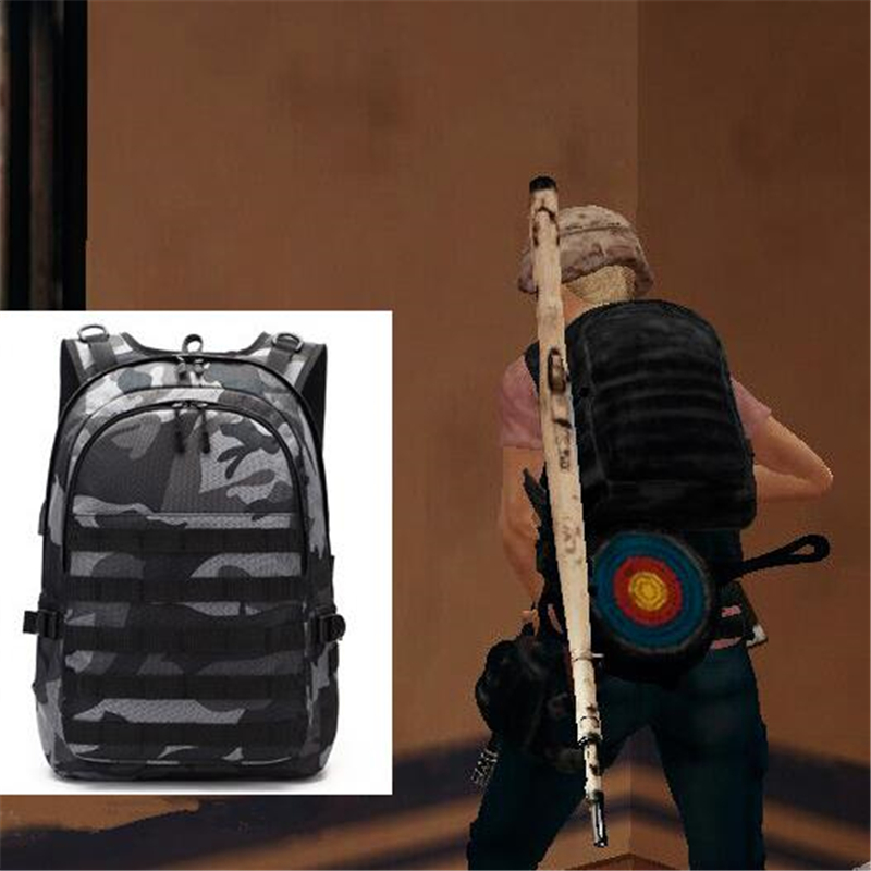 Playerunknown's Battlegrounds PUBG Cosplay Props Level 3 Backpack Unisex USB charging Knapsack Laptop Travel Large Capacity Bags