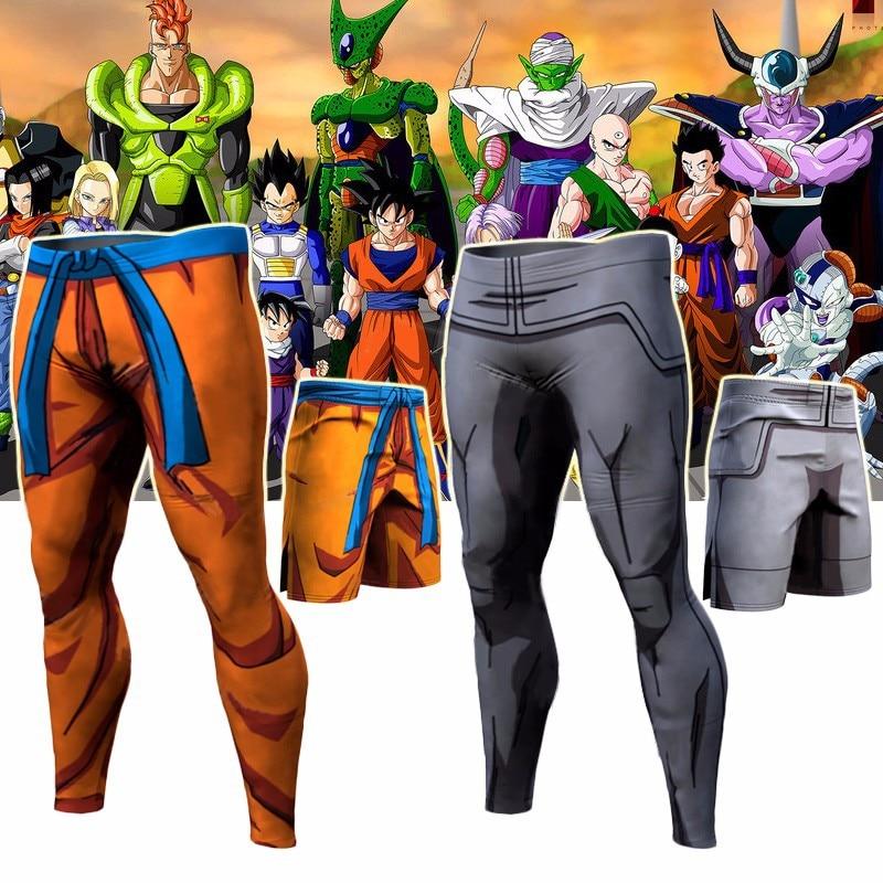 Trending Pants Dragon Ball Pants Compression Trousers Fitness Quick Dry Pant Tight 3D Dragon Ball Z Anime Men Vegeta Goku Pant