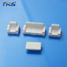 Teraysun 1:75 DollHouse MODEL Plastic Sofa Set Diy Construction Sand Table Landscape Scene