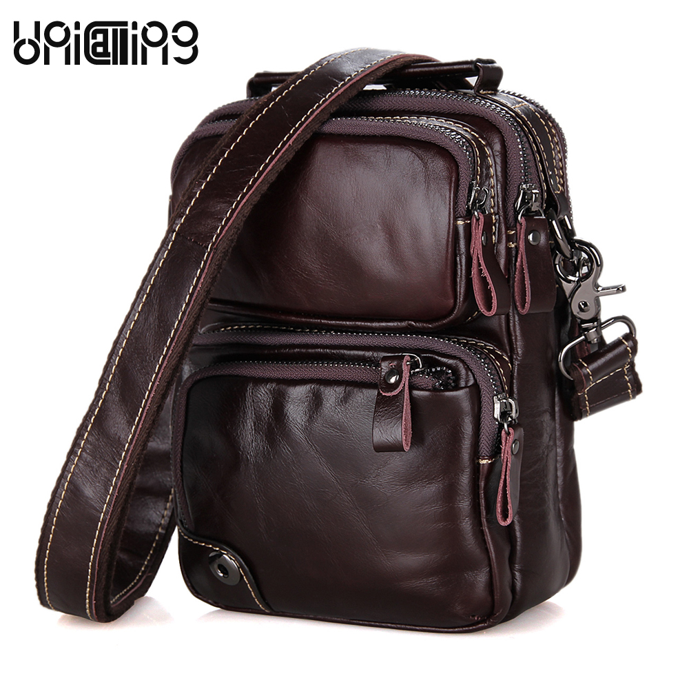 Genuine leather men bag fashion vintage real cow leather men shoulder bag leisure male crossbody messenger bag small bag men