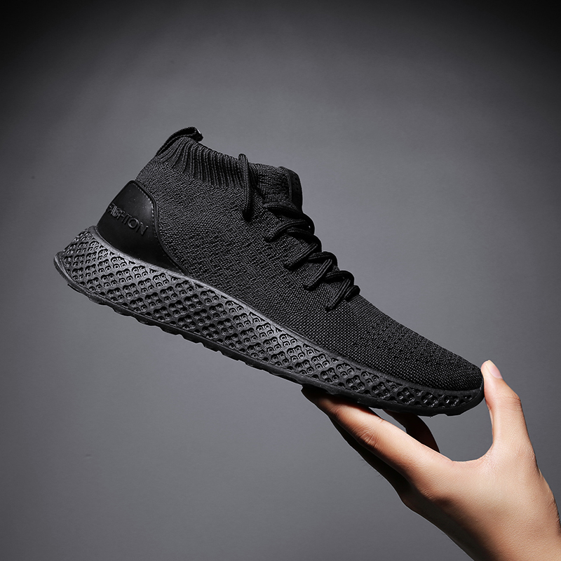 KLYWOO Casual Shoes Men Breathable Autumn Mesh High Top Shoes Boots Men Brand Zapatos Hombre Ultras Boosts Superstar Sneakers outdoor shoes men superstar men casual shoes rubber breathable air mesh