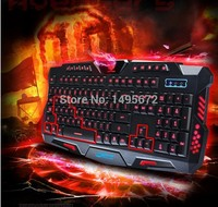 Red/Purple/Blue Backlight LED Pro Gaming Keyboard M200 USB Wired Powered Full N Key for LOL Dota 2 Computer Peripherals