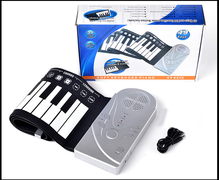 Купить с кэшбэком Portable folding electronic organ Roll Up Digital Keyboard Piano 49 Keys gift Soft child
