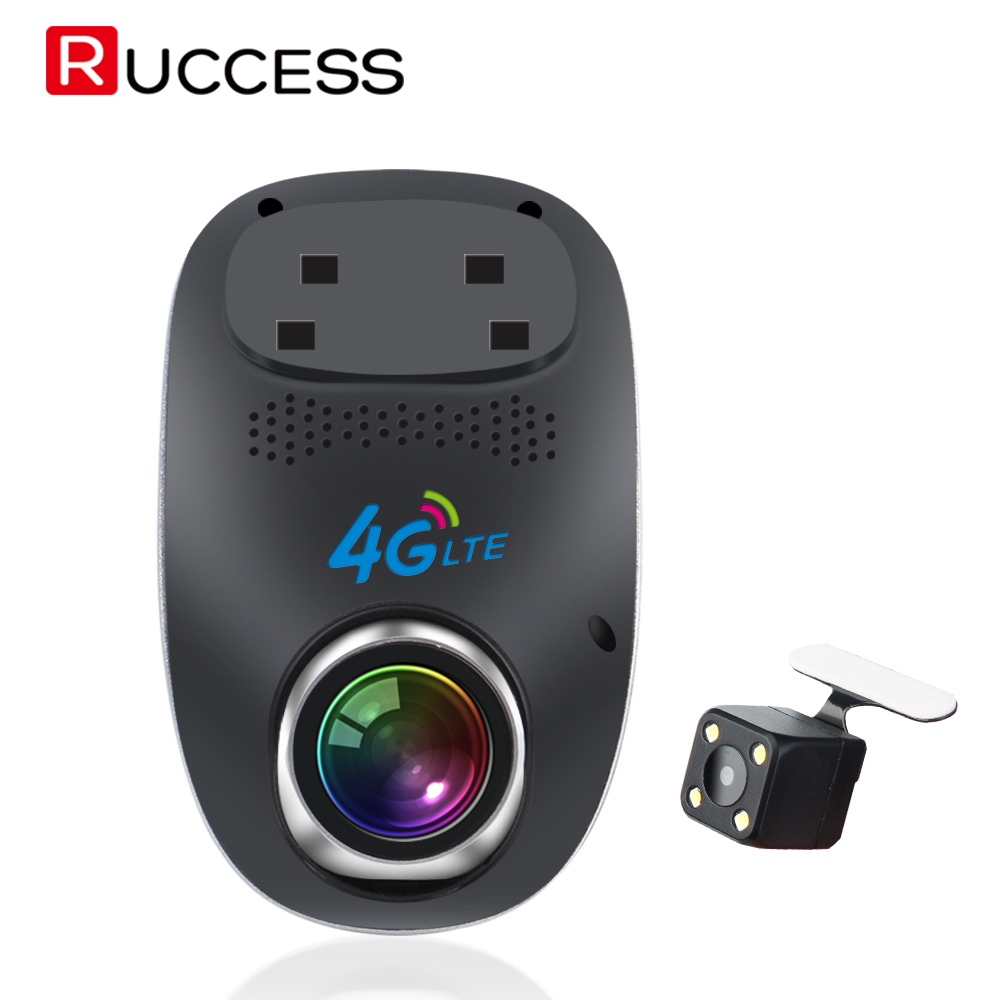 RUCCESS 4G Mini Wifi Car DVR Dash Cam Full HD 1080P Remote Monitor Night Vision Dual Lens Auto Video Recorder Camera mini car camera dual lens car dvr dash cam hd 1080p 170 wide angle with g sensor wdr loop recording and night vision
