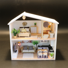 DIY Miniature Dollhouse Doll House Furniture Dust Cover 3D Wooden Miniaturas Dollhouse Toys for Children diy wooden house miniaturas with furniture diy miniature house dollhouse toys for children christmas and birthday gift a28