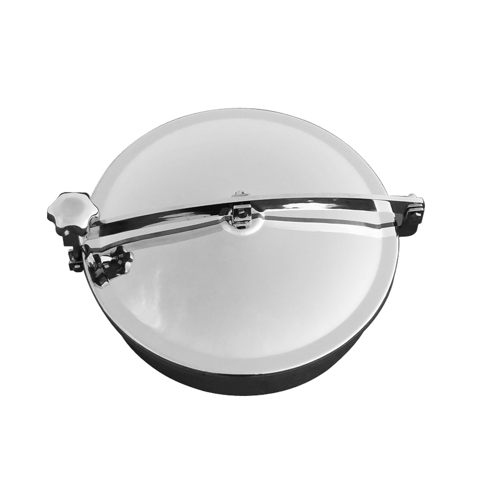 ZUCZUG 400mm Stainless steel 304 Circular manhole cover without pressure, Height:100mm hot sale stainless steel new arrival 200mm ss304 circular manhole cover without pressure height 100mm tank hatch