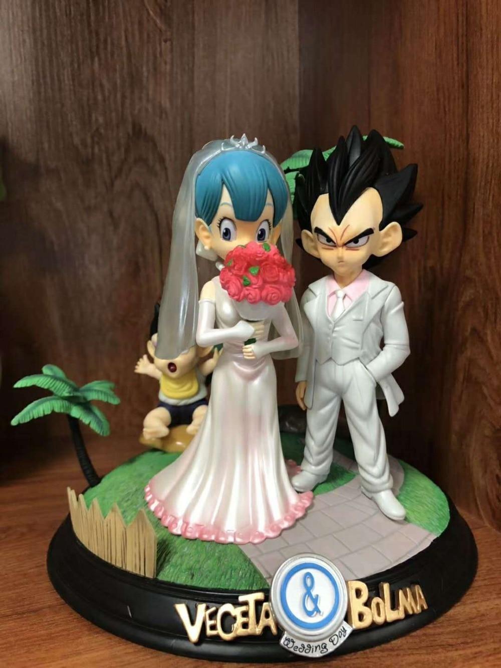 Горячий Жемчуг дракона Супер Saiyan принц Вегета Bulma женится на свадьбе день бурума детские трусы сцена фигурка игрушки лучший подарок