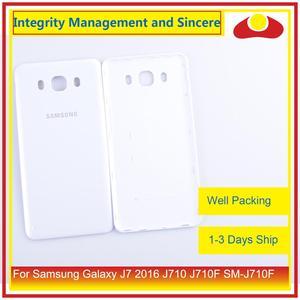 Image 2 - 50 шт./лот для Samsung Galaxy J7 2016 J710 SM J710F J710M J710H J710FN корпус батарейного отсека задняя крышка корпус