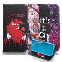 Luxury Painted Magnetic Clasps Flip Wallet PU Leather Case Cover For HTC One M8 Phone Case