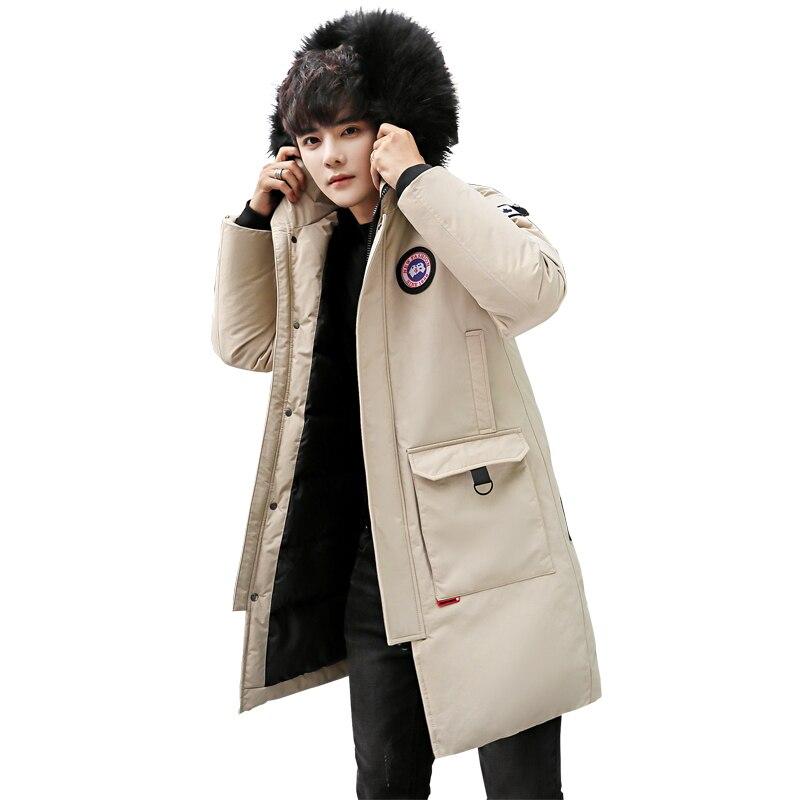 KUYOMENS KUYOMENS New Men's Winter Jacket Mens Plus Hooded Padded Male Casual Warm Fleece Fur Collar Parkas Cold Winter Coat
