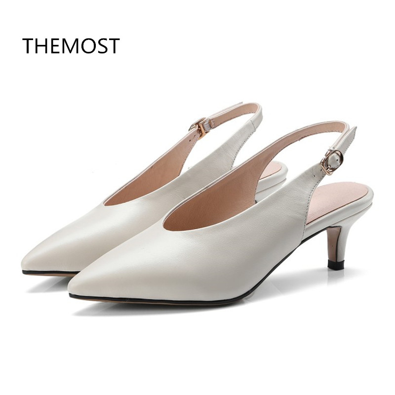 THEMOST High-heeled sandals Lady sandals 2 colors to choose from The European and American style Tower buckle openings themost sexy fish mouth hollowed out roman sandals fashion foreign trade european and american style four colors can be selected
