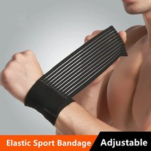 1PC Elastic Sport Bandage Wristband Hand Gym Support Wrist Brace Wrap Fitness Exercise Powerlifting Tennis Cotton Weat Band(China)