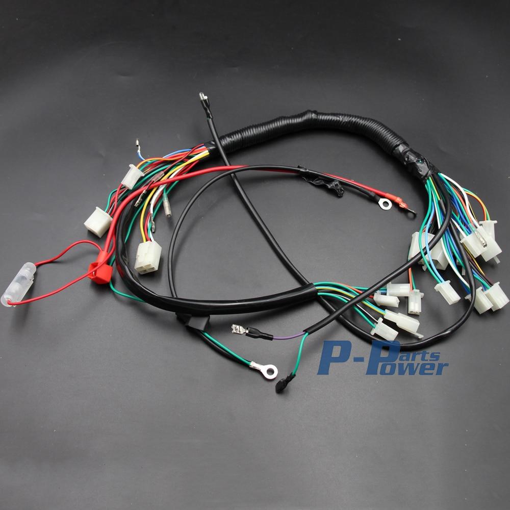 Engine Ac Wiring Harness Loom 150cc 250cc Pit Quad Dirt Bike Z50 Wire 50cc 70cc 90cc 110cc 125cc Atv Buggy