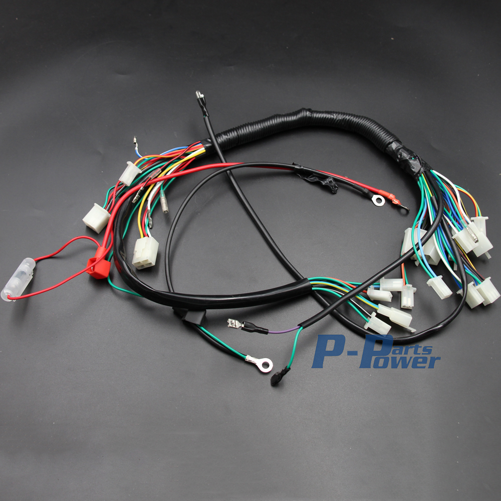 engine wire wiring harness loom 50cc 70cc 90cc 110cc 125cc polaris atv wiring harness