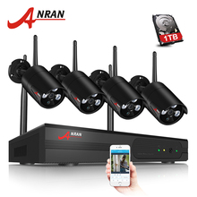 ANRAN Беспроводной безопасности Камера Системы 4CH NVR комплект 960 P HD открытый IP Камера Водонепроницаемый Wi-Fi видеонаблюдения Камера Системы