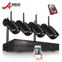 Wireless Security Kamera System 4CH NVR Kit 1080P HD Outdoor Ip-kamera Wasserdicht Wifi Überwachung CCTV Kamera System APP ANRAN