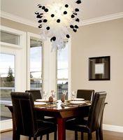 Elegante Diseño De Mesa de San Valentín Se Levantó Serie de luz LED Iluminación de la Lámpara de Cristal Soplado a mano