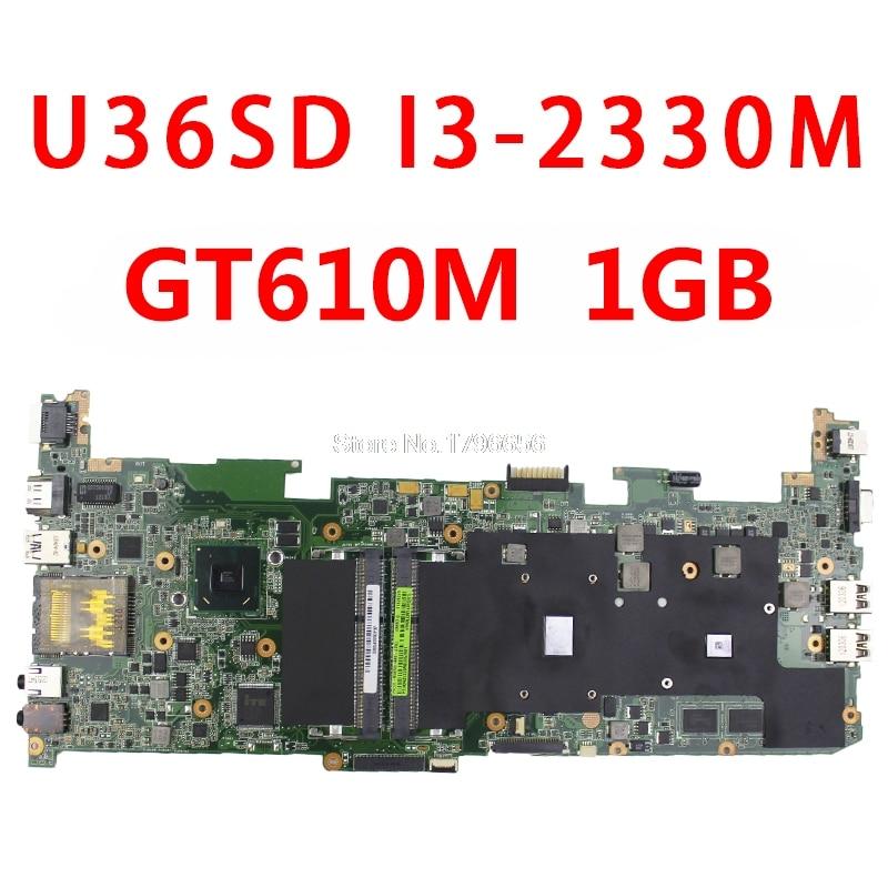 U36SD U36SG U44SG U44S U36KI241SD dizüstü bilgisayar anakartı (taban anakart/anakart) I3 CPU