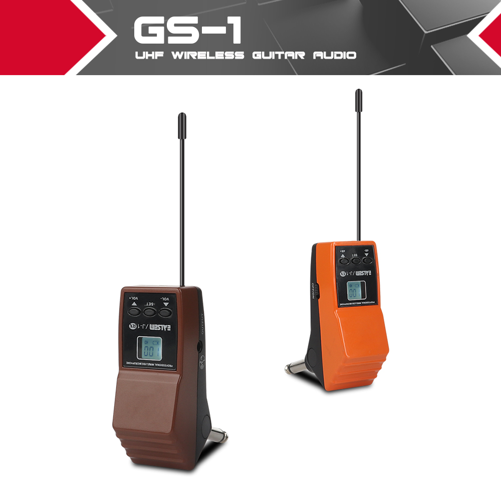 UHF Wireless Guitar Audio Transmission System Super-audio frequency data pilot control 100 Channels can be adjusted arbitrarily UHF Wireless Guitar Audio Transmission System Super-audio frequency data pilot control 100 Channels can be adjusted arbitrarily