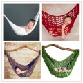 Free Shipping 4 colors Comfortable Handmade Knitted Newborn Hammock Cocoon Baby Photography Prop Infant Toddler Crochet Costume