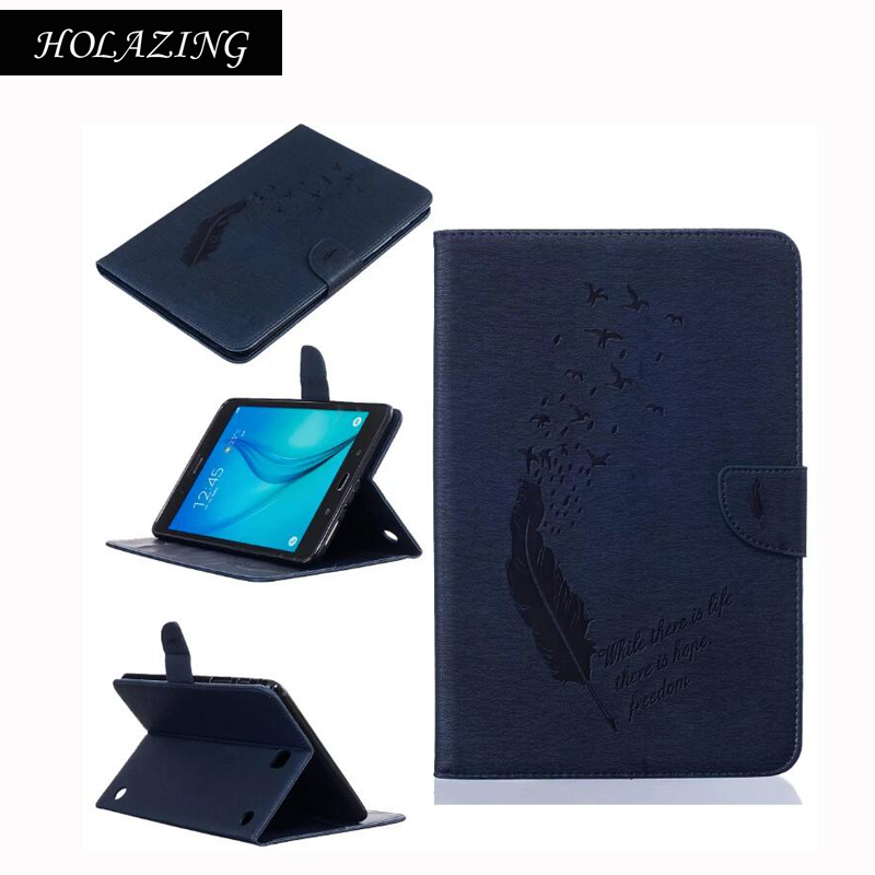 For Samsung Galaxy Tab A 8.0 T350 Case With Cards Slot T351 T355 SM-T355 8 Stand Smart Cover Auto Sleep Wake-up hh xw dazzle impact hybrid armor kickstand hard tpu pc back case for samsung galaxy tab a 8 0 inch p350 p355c t350 t355 sm t355