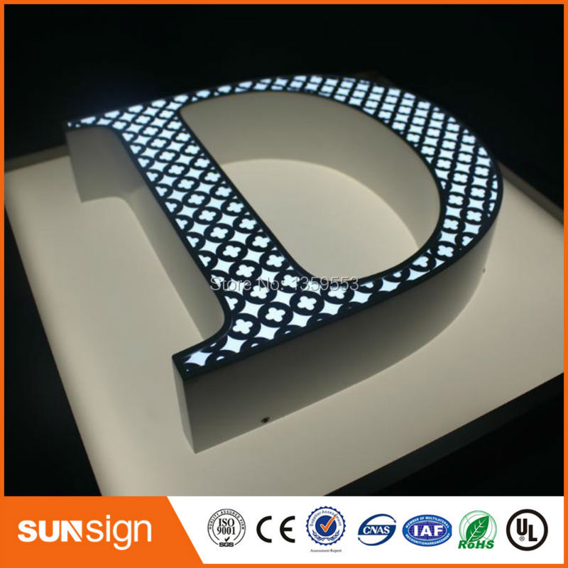 Outdoor Advertising Metal Letters Led Lettre Lumineuse Sign