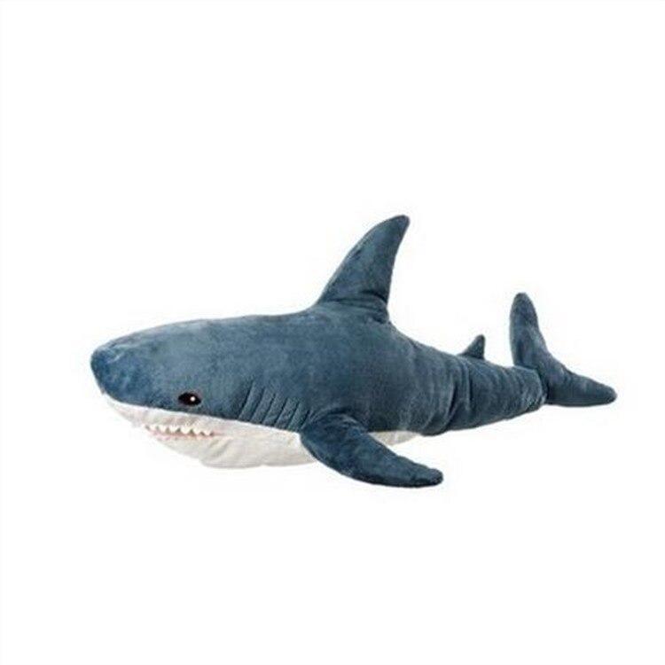 100 см гигантская акула плюшевая игрушка Реалистичная акула игрушка мягкая чучело высокое качество детский подарок магазин Декор