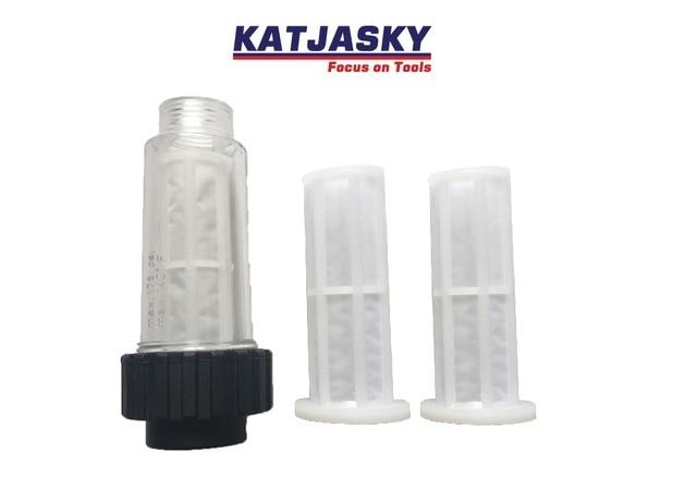 Water filter fit Karcher K2-K7 hogedrukreiniger 1 st met twee mesh ook fit Lavor Elitech Kampioen