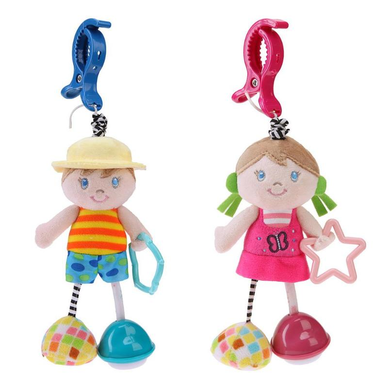 Funny Animal Crib Bed Pendant Hanging Rattles Baby Early Learning Interest Training doll ...