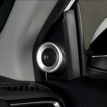ABS Opaco Per Honda CR-V CRV 2017 Auto Anteriore altoparlante audio Corno anello cornice del pannello di Copertura Trim Car styling accessori