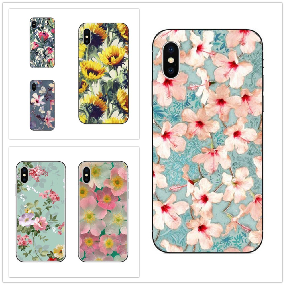 Beautiful sexy flowers For Phone Case For Apple iPhone 7 6 6s 5 5s SE Plus Cases Back Cover Capa For iPhone7Plus Hard plastic .