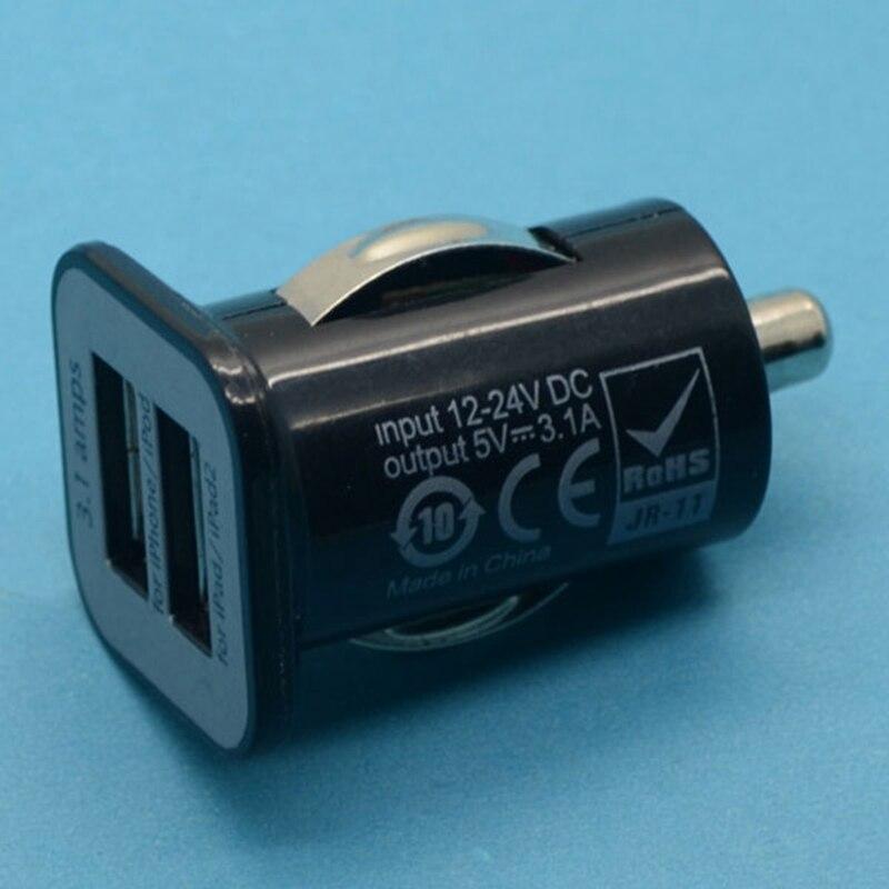 Universal Black Micro Auto Mini 3.1A Dual 2 Port USB Car Charger For iPhone iPad 2 3 4 iPod Fast Charging Adapter /Cigar Socket