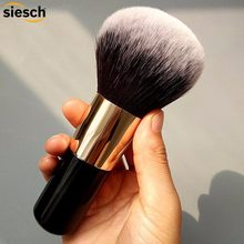 SIESCH Foundation Brushes Oval Big Chubby Pier Makeup Flat Cream Professional Cosmetic Liquid Make-up mineral Brush Dropshipping(China)
