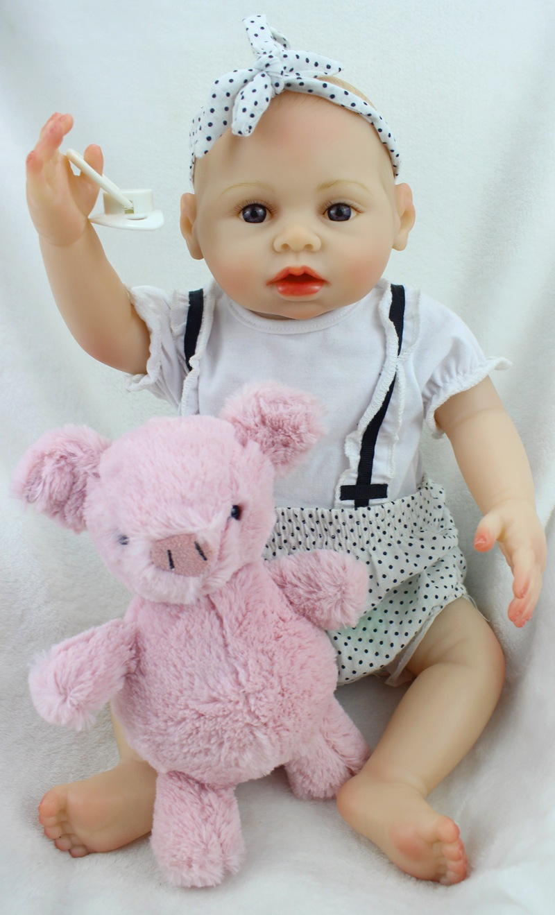 40 cm Girl Lifelike Full Silicone Vinyl Reborn Baby Doll Toys Play House Juguetes Child Kids Birthday Christmas Gifts Can Bath high end soft vinyl reborn doll 55cm reborn baby toys kids birthday gifts play house diy for child juguetes