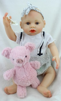 40 cm Girl Lifelike Full Silicone Vinyl Reborn Baby Doll Toys Play House Juguetes Child Kids Birthday Christmas Gifts Can Bath
