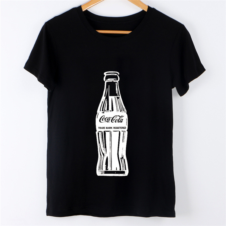 2105a4c5d0d 2017 Summer New Fashion Womens Tops Short Sleeve T Shirt Harajuku Coke  Bottle Print Plus Size XS 4XL Clothing Europe Female Pop-in T-Shirts from  Women s ...