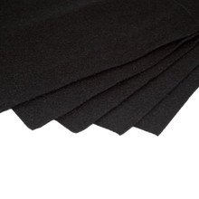 Black Non Woven Felt Fabric Sheets Fiber Thick Kids DIY Craft Assorted Fabric Square Embroidery Scrapbooking Craft AA8505