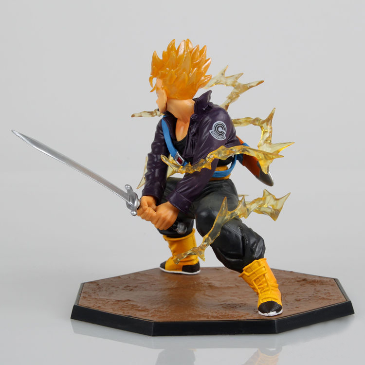 1pc 14cm Dragon Ball Z Super Saiyan Trunks Battle Version Boxed PVC Action Figure Dragonball Model Collection Toy Free Shipping