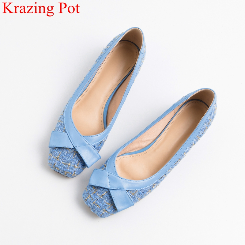 Krazing pot new arrival square toe low heels classic butterfly-knot women pumps shallow elegant brand driving spring shoes L32 Krazing pot new arrival square toe low heels classic butterfly-knot women pumps shallow elegant brand driving spring shoes L32