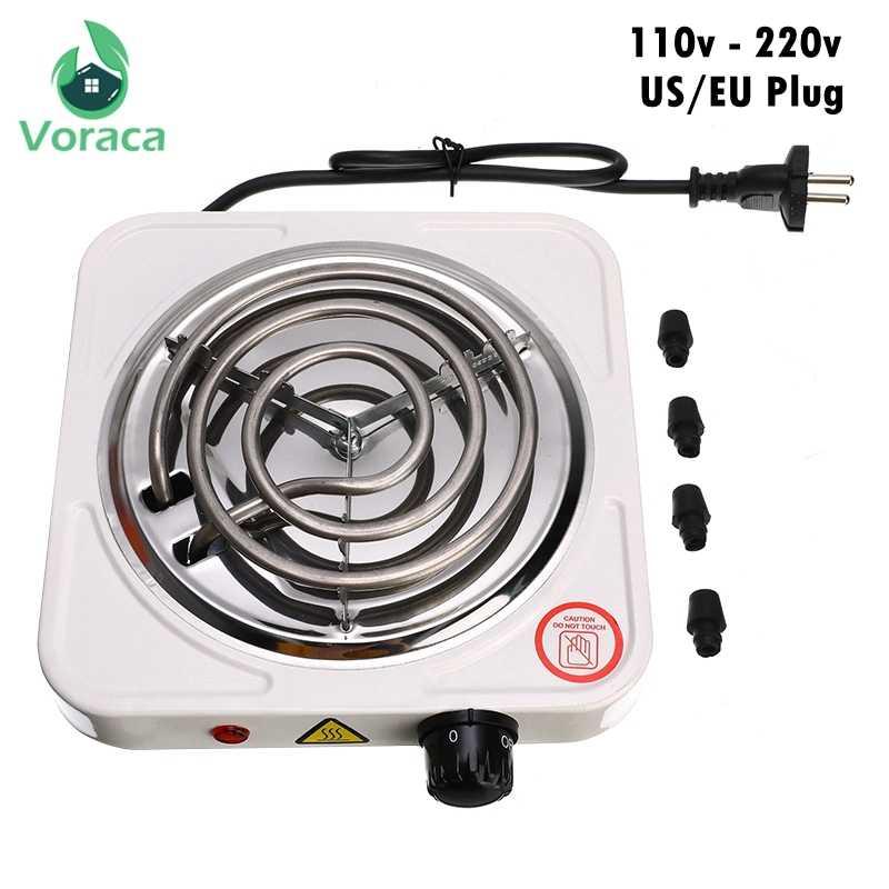 Profesional Shisha Hookah Arang Pemanas Kompor Mini Square Oven Arang Hot Plate Coal Burner Pipa Aksesoris Uni Eropa Plug 220V