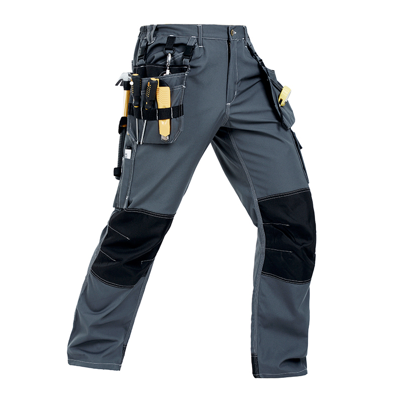Men working pants multi pockets wear-resistance work trousers high quality worker mechanic factory functional cargo work pants high quality summer light weight twill durable black cargo work pant long trousers mechanic workwear