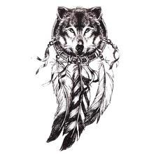 Wyprzedaż Temporary Tattoo Indian Wolf Kupuj W Niskich