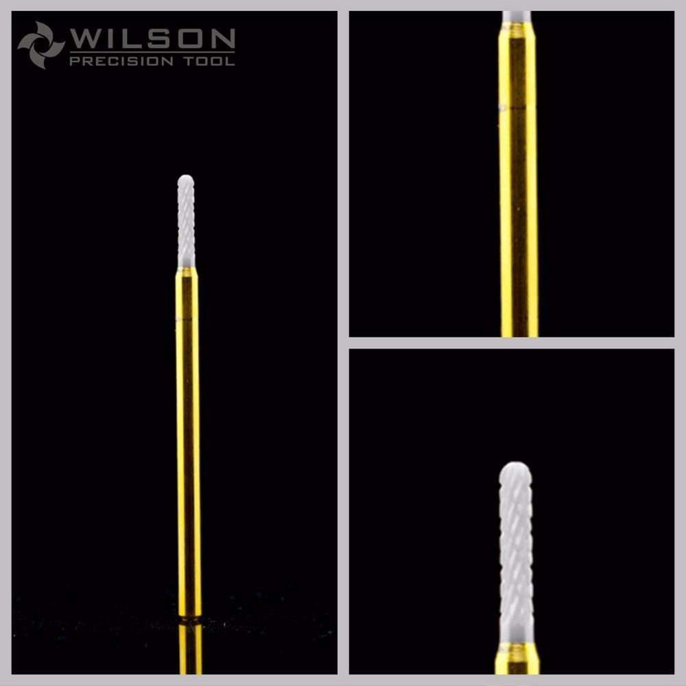 Λευκό κεραμικό τρυπάνι νυχιών - - Τέχνη νυχιών - Φωτογραφία 1