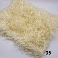 175*100cm Faux Fur Blanket Mongolia Newborn Photo Props Artificial Fur Blanket Basket Stuffer Photo Background Backdrop