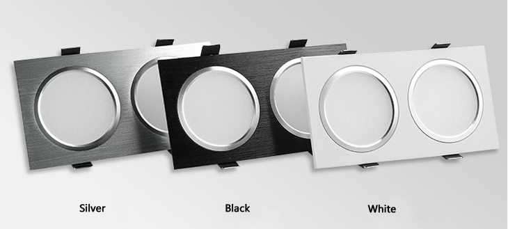 Led Downlights 5w10w Ac85-265v Square Silver Black White Led Ceiling Lamp Down Light For Kitchen Home Office Indoor Lighting Downlights