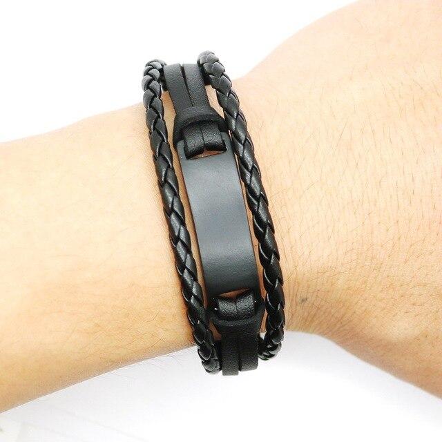 Купить janeyacy 2017 кожаный браслет и веревочные браслеты черного