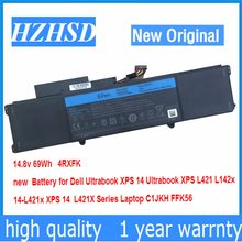 14,8 v 69Wh Neue Original 4 RXFK Batterie für Dell XPS 14 Ultrabook XPS L421 L142x 14-L421x XPS 14 L421X Laptop C1JKH FFK56(China)