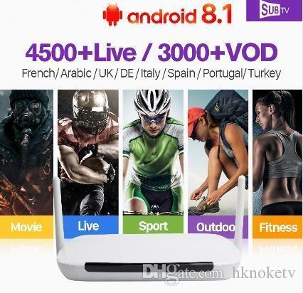 1 Yesrs Q9 Iptv Arabisch Frankrijk Rk3229 Quad-core Android 8.1 Tv Box Ontvanger Android 4 K Subtv Volledige Hd Live Portugal